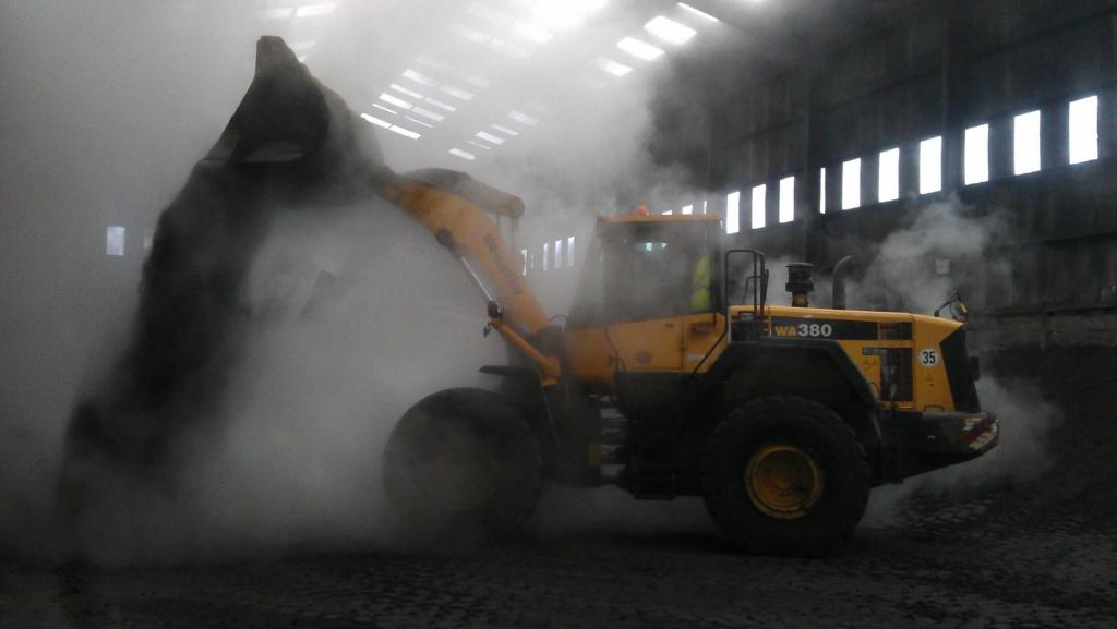 Komatsu WA380 in Hazardous Amonia gas