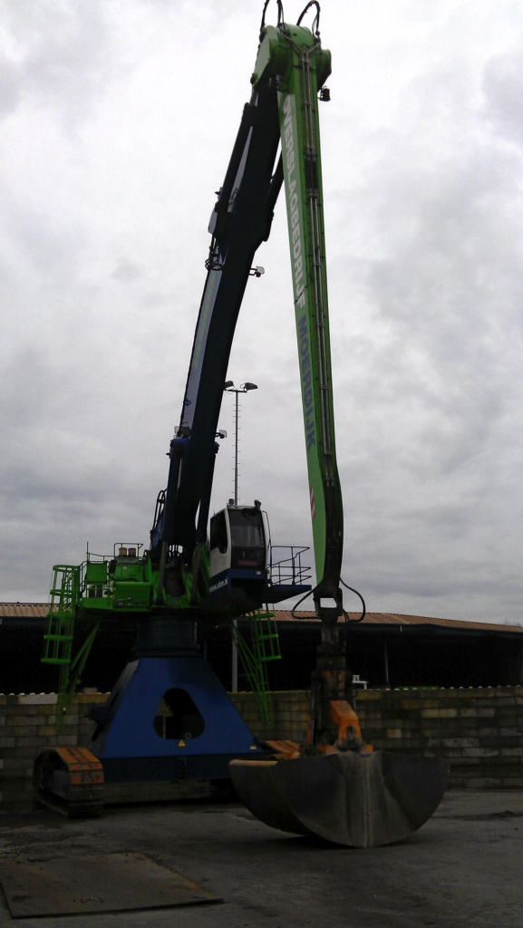 Liebherr excavator at shipping port with Arctic Air  cab over pressure system.