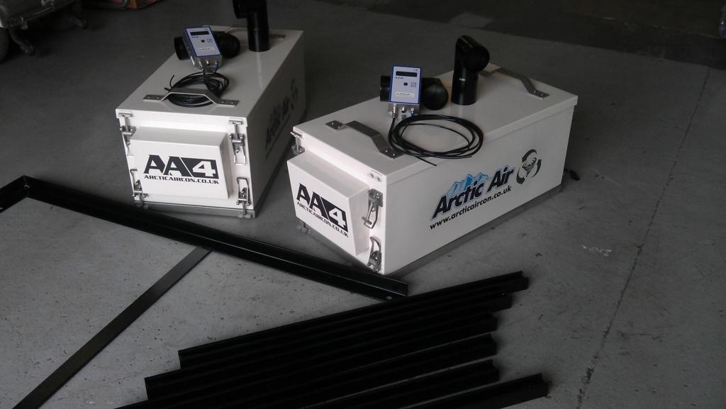 Arctic Air's excavator cab pressurizers.